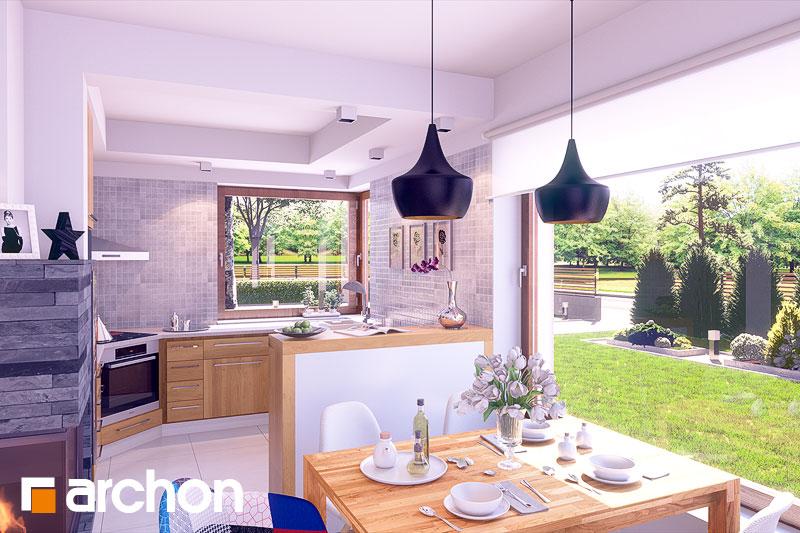 Проект дома ARCHON+ Дом в журавках вер.2 визуализация кухни 1 вид 1