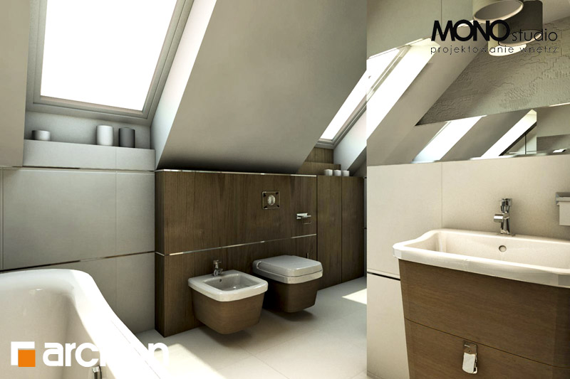 Проект будинку ARCHON+ Будинок в журавках ver.2 візуалізація ванни (візуалізація 1 від 1)