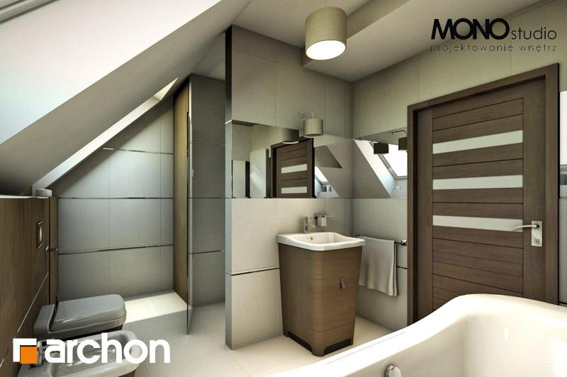 Проект будинку ARCHON+ Будинок в журавках ver.2 візуалізація ванни (візуалізація 1 від 2)