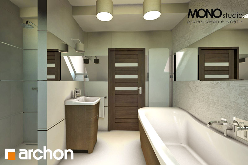 Проект будинку ARCHON+ Будинок в журавках вер.2 візуалізація ванни (візуалізація 1 від 3)