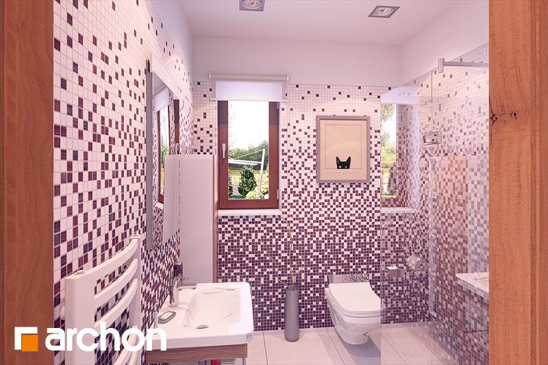 Проект будинку ARCHON+ Будинок в журавках ver.2 візуалізація ванни (візуалізація 3 від 1)