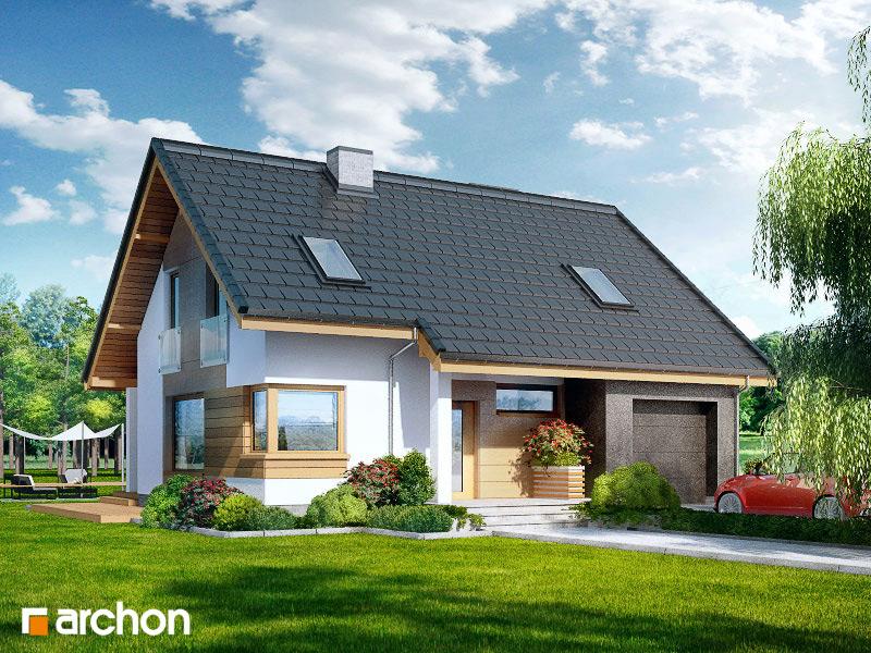 Проект будинку ARCHON+ Будинок в журавках ver.2 стилізація 5