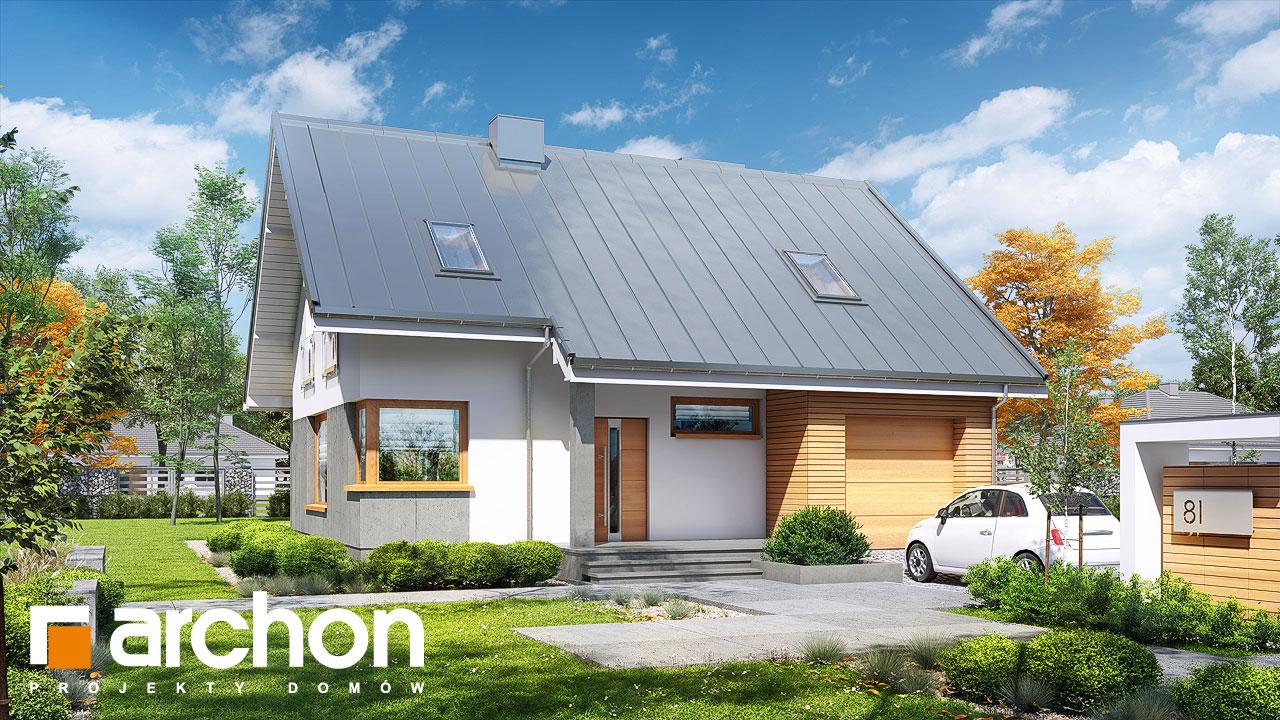 Проект будинку ARCHON+ Будинок в журавках вер.2 стилізація 3