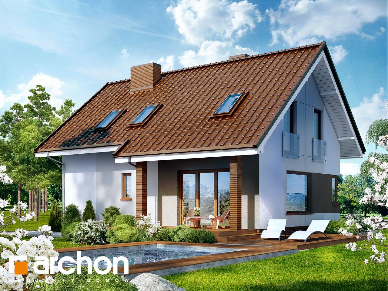 Проект будинку ARCHON+ Будинок в журавках ver.2 Вид 2