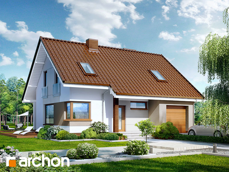 Проект дома ARCHON+ Дом в журавках вер.2 Вид 1