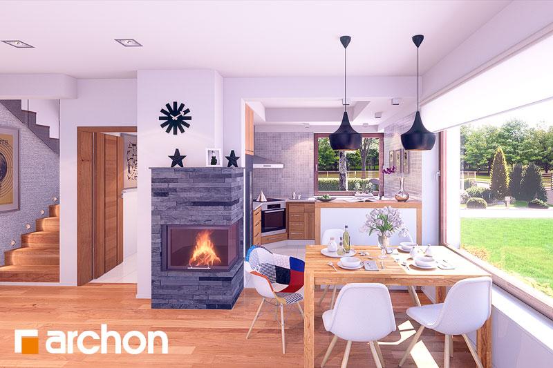 Проект дома ARCHON+ Дом в журавках вер.2 дневная зона (визуализация 2 вид 1)