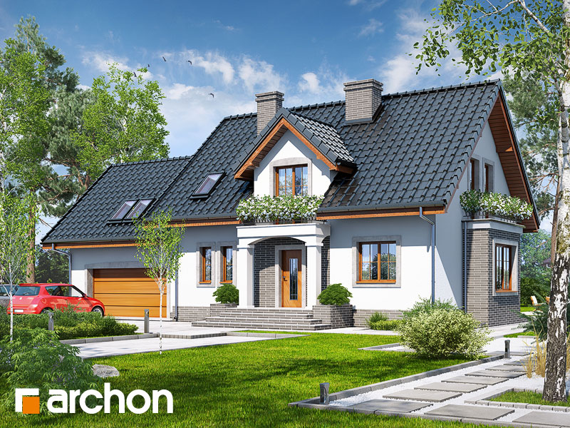 Проект будинку ARCHON+ Будинок в вербенах 5 (Г2П) Вид 1