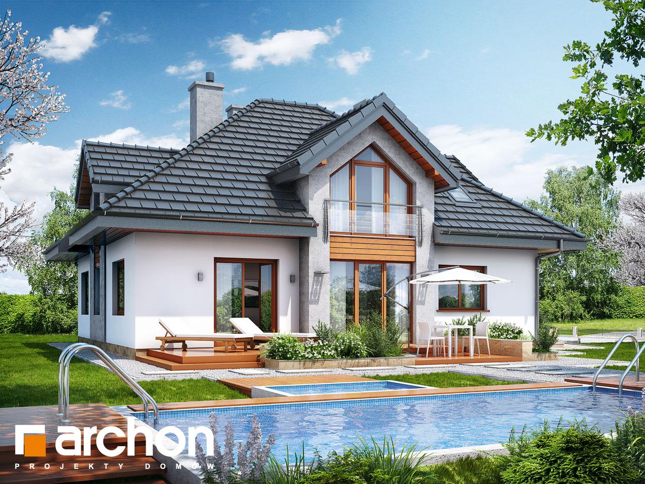 Проект будинку ARCHON+ Будинок в тим'яні (Н) Вид 2