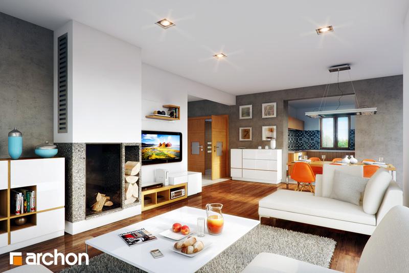 Проект будинку ARCHON+ Будинок в тим'яні (Н) денна зона (візуалізація 1 від 1)