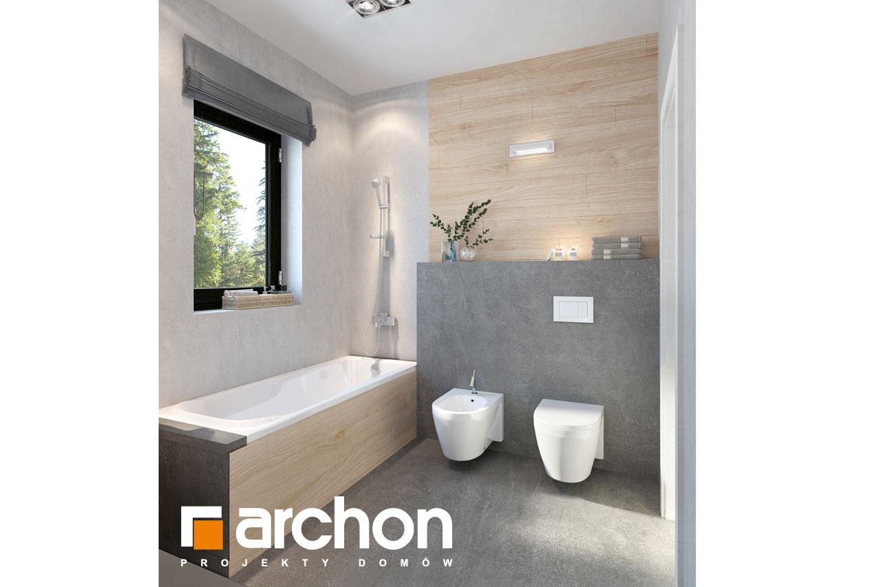 Проект будинку ARCHON+ Будинок в пепероміях 2 візуалізація ванни (візуалізація 3 від 2)