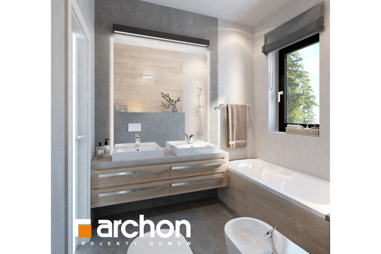 Проект будинку ARCHON+ Будинок в пепероміях 2 візуалізація ванни (візуалізація 3 від 3)