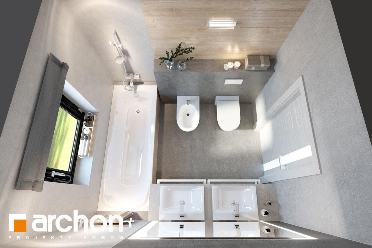 Проект будинку ARCHON+ Будинок в пепероміях 2 візуалізація ванни (візуалізація 3 від 4)