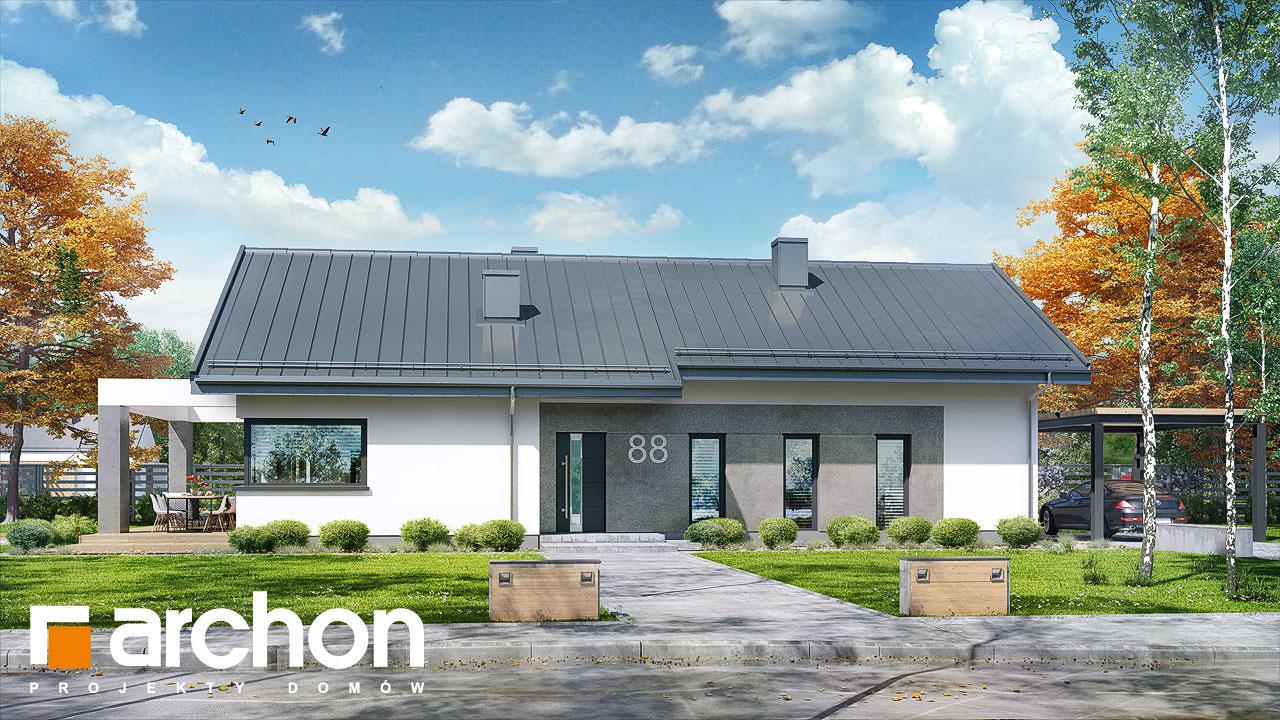 Проект будинку ARCHON+ Будинок в пепероміях 2 Вид 2