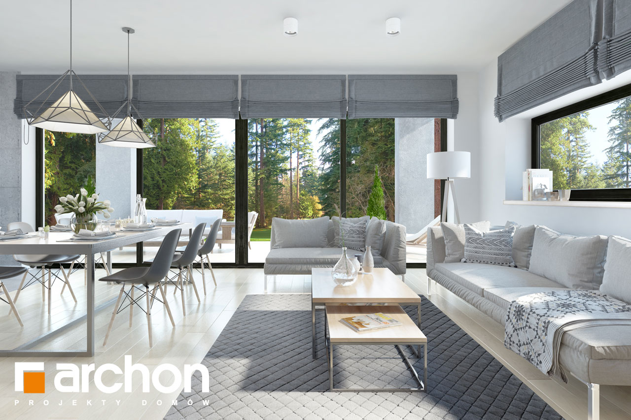Проект будинку ARCHON+ Будинок в пепероміях 2 денна зона (візуалізація 1 від 4)