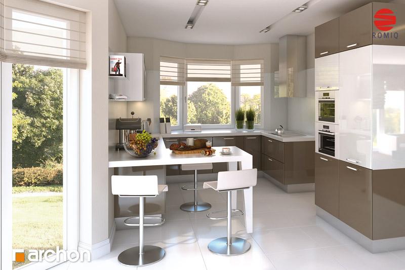 Проект будинку ARCHON+ Будинок в калатеях 2 (П) вер.2 візуалізація кухні 1 від 1