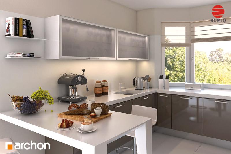 Проект будинку ARCHON+ Будинок в калатеях 2 (П) вер.2 візуалізація кухні 1 від 2