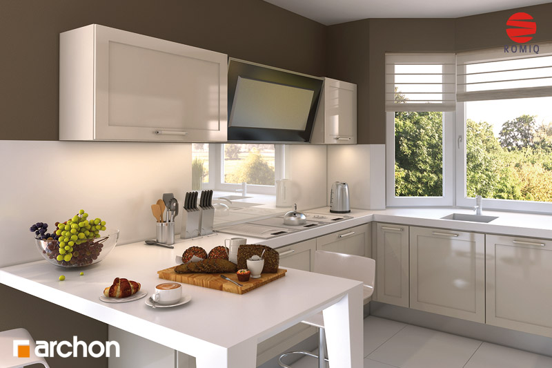 Проект будинку ARCHON+ Будинок в калатеях 2 (П) вер.2 візуалізація кухні 2 від 2