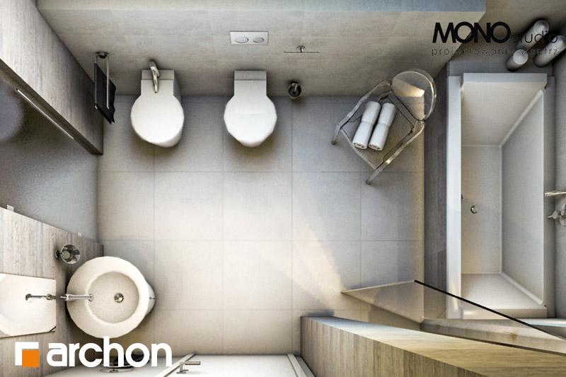 Проект будинку ARCHON+ Будинок в калатеях 2 (П) вер.2 візуалізація ванни (візуалізація 3 від 4)