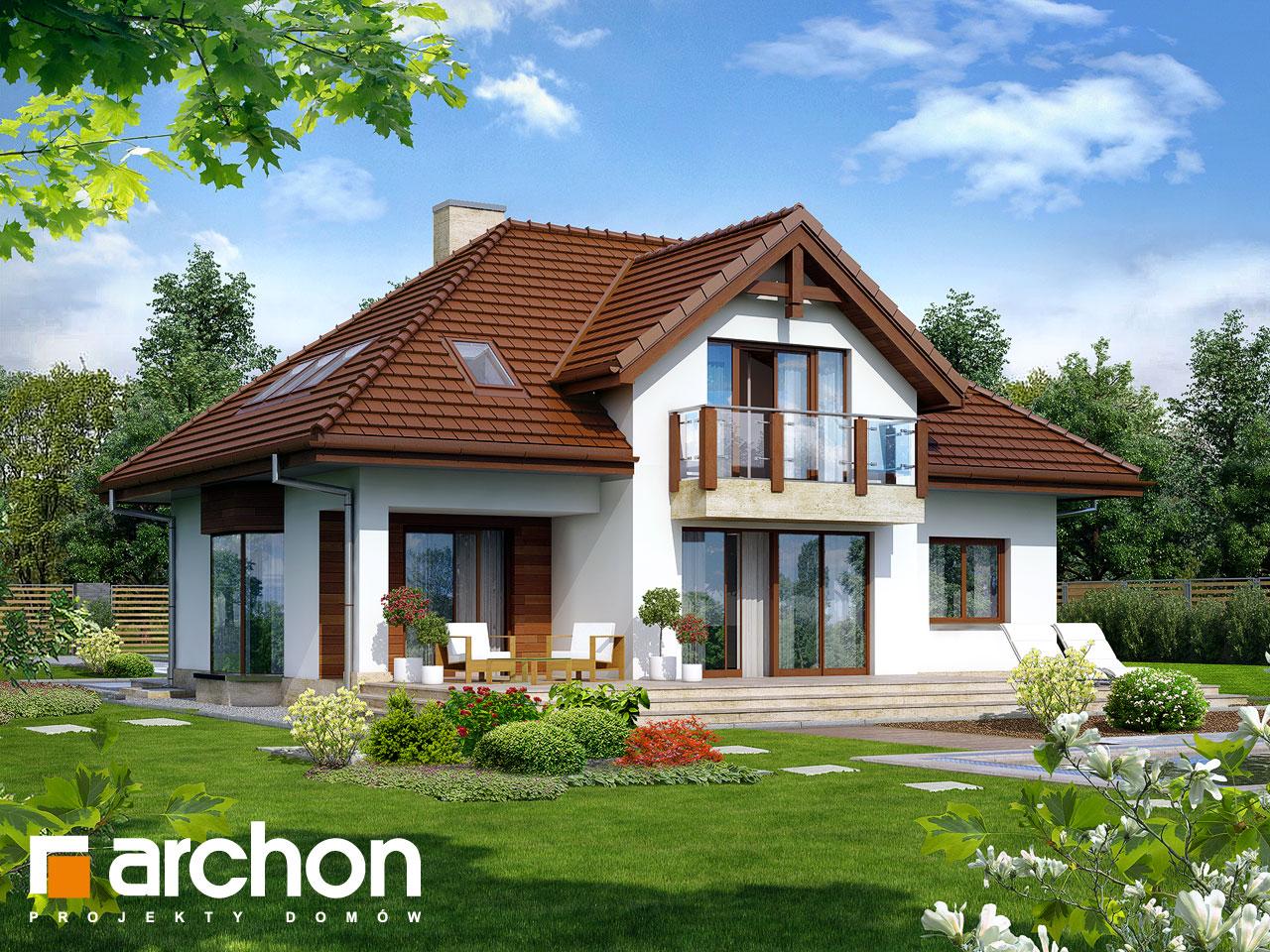 Проект будинку ARCHON+ Будинок в калатеях 2 (П) вер.2 Вид 2
