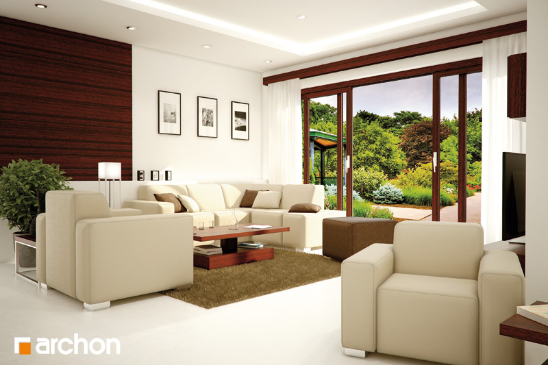 Проект будинку ARCHON+ Будинок в калатеях 2 (П) вер.2 денна зона (візуалізація 1 від 1)
