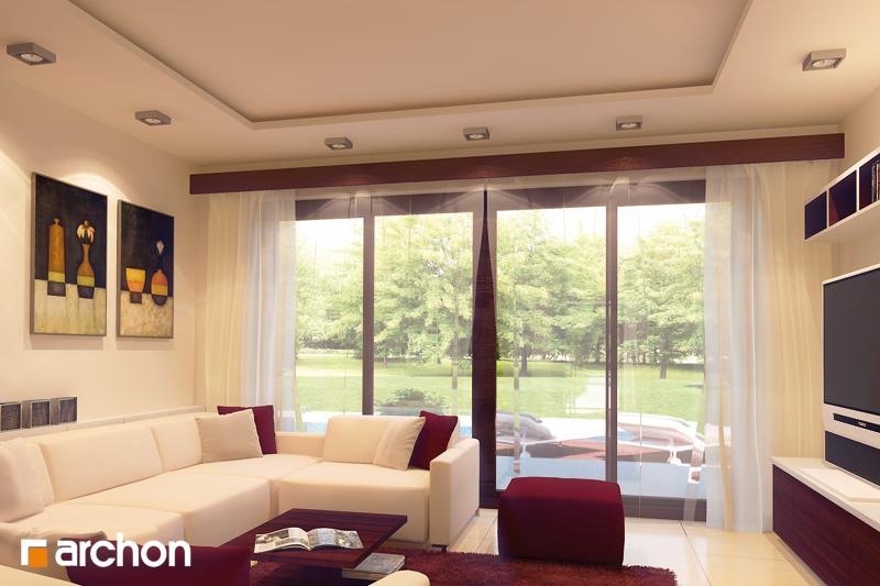 Проект будинку ARCHON+ Будинок в калатеях 2 (П) вер.2 денна зона (візуалізація 2 від 1)