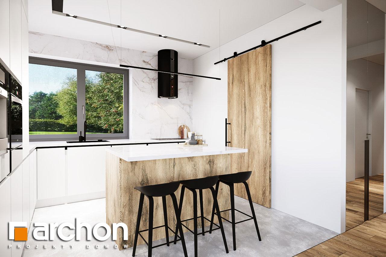 Проект будинку ARCHON+ Будинок в барбарисах 2 (Г2) візуалізація кухні 1 від 1