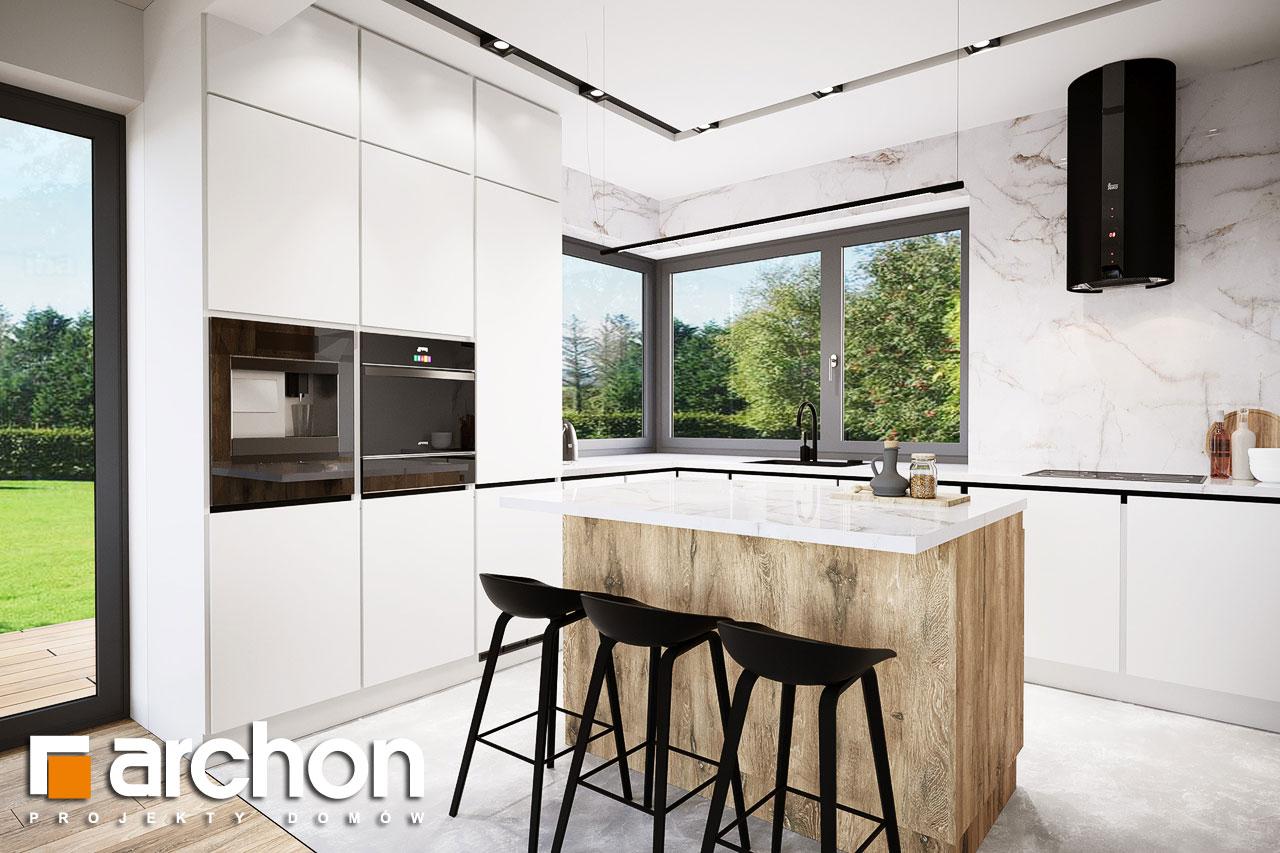 Проект будинку ARCHON+ Будинок в барбарисах 2 (Г2) візуалізація кухні 1 від 2
