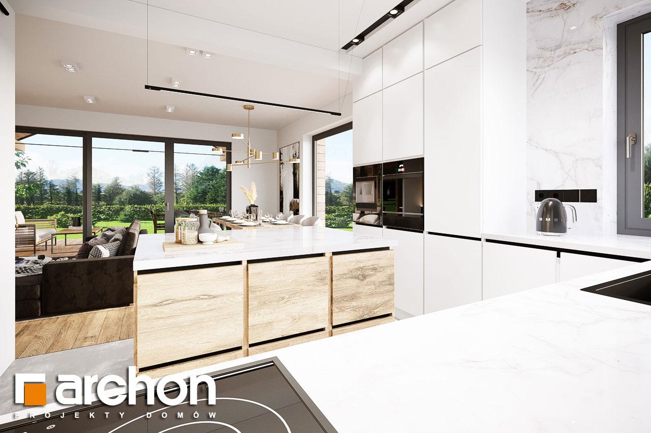 Проект будинку ARCHON+ Будинок в барбарисах 2 (Г2) візуалізація кухні 1 від 3