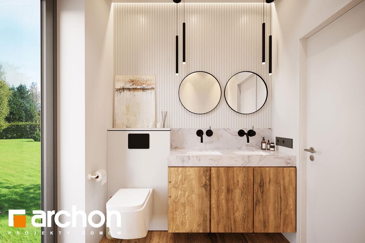 Проект будинку ARCHON+ Будинок в барбарисах 2 (Г2) візуалізація ванни (візуалізація 3 від 1)