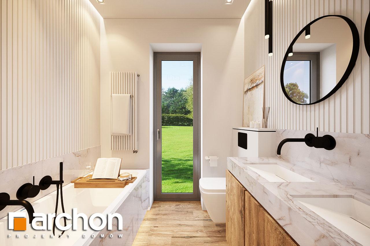 Проект будинку ARCHON+ Будинок в барбарисах 2 (Г2) візуалізація ванни (візуалізація 3 від 3)
