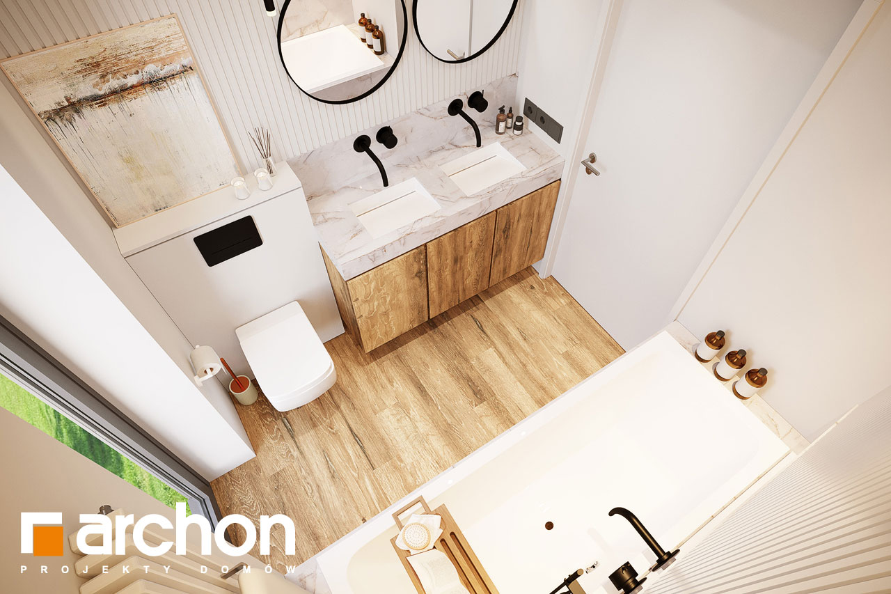 Проект будинку ARCHON+ Будинок в барбарисах 2 (Г2) візуалізація ванни (візуалізація 3 від 4)