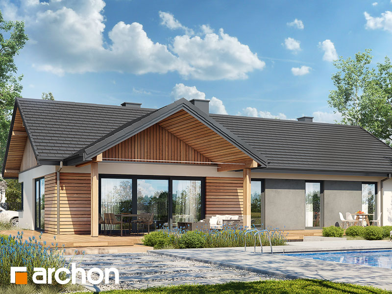 Проект будинку ARCHON+ Будинок в барбарисах 2 (Г2) Вид 2