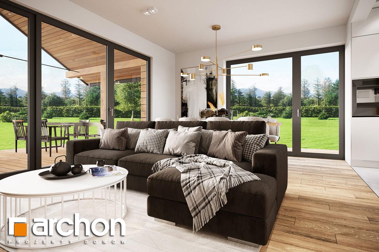 Проект будинку ARCHON+ Будинок в барбарисах 2 (Г2) денна зона (візуалізація 1 від 1)