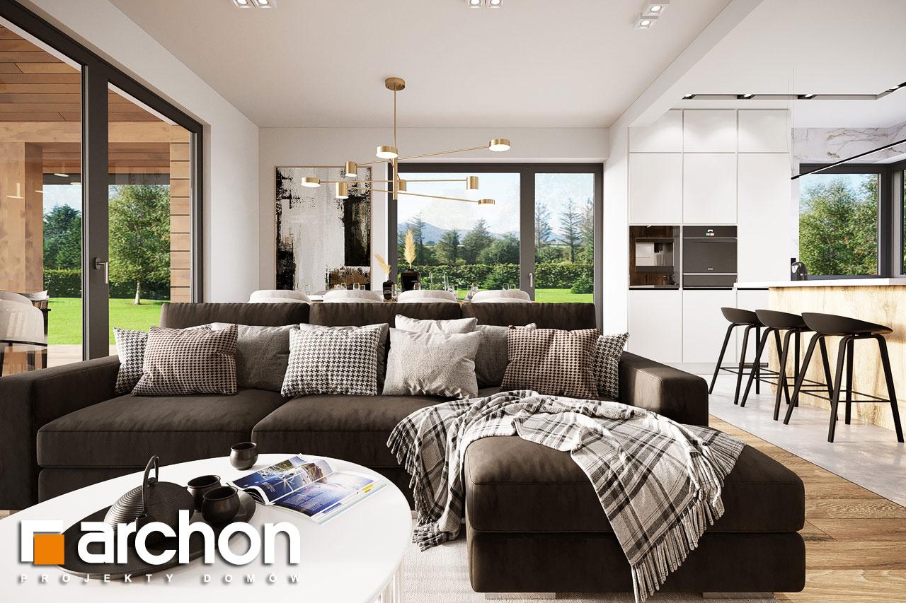 Проект будинку ARCHON+ Будинок в барбарисах 2 (Г2) денна зона (візуалізація 1 від 2)