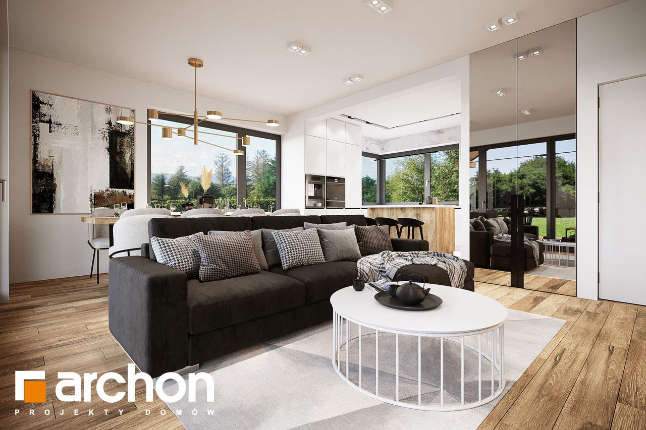 Проект будинку ARCHON+ Будинок в барбарисах 2 (Г2) денна зона (візуалізація 1 від 3)