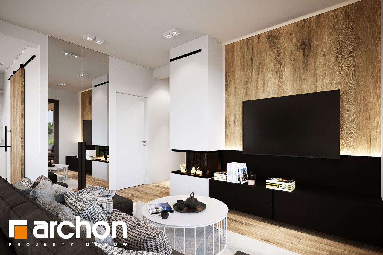 Проект будинку ARCHON+ Будинок в барбарисах 2 (Г2) денна зона (візуалізація 1 від 4)