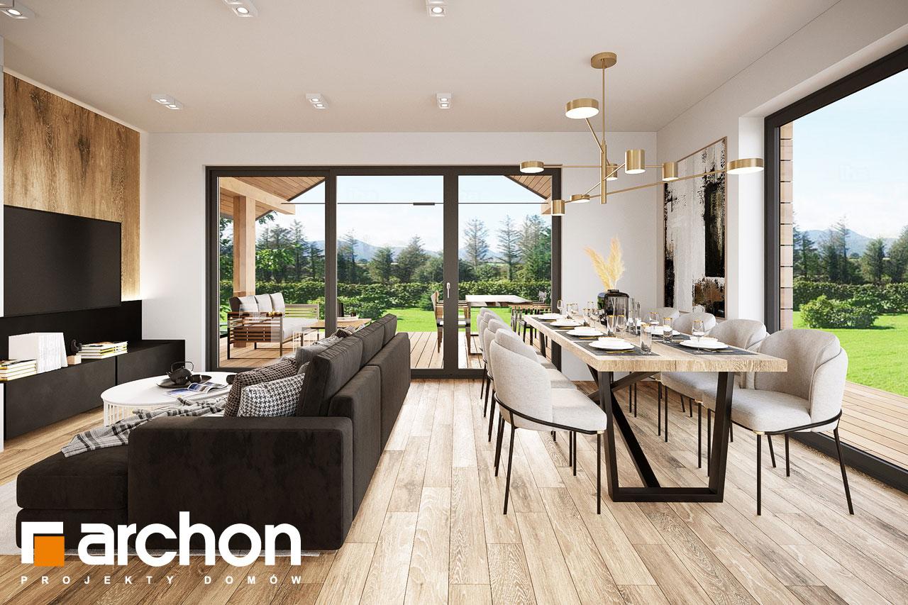 Проект будинку ARCHON+ Будинок в барбарисах 2 (Г2) денна зона (візуалізація 1 від 7)