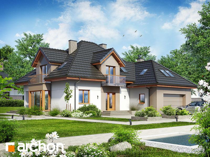Проект будинку ARCHON+ Будинок в нагетках 2 (Н) Вид 1