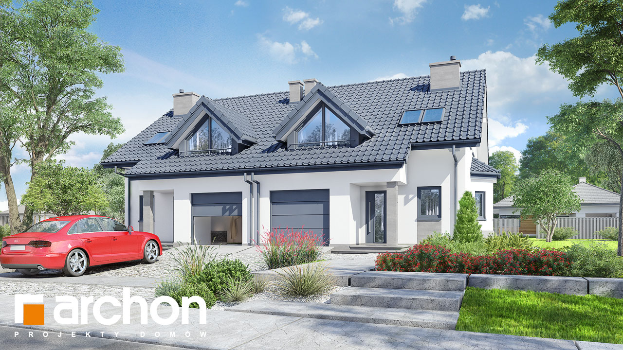 Проект будинку ARCHON+ Будинок в клематисах 2 вер.3 візуалізація усіх сегментів