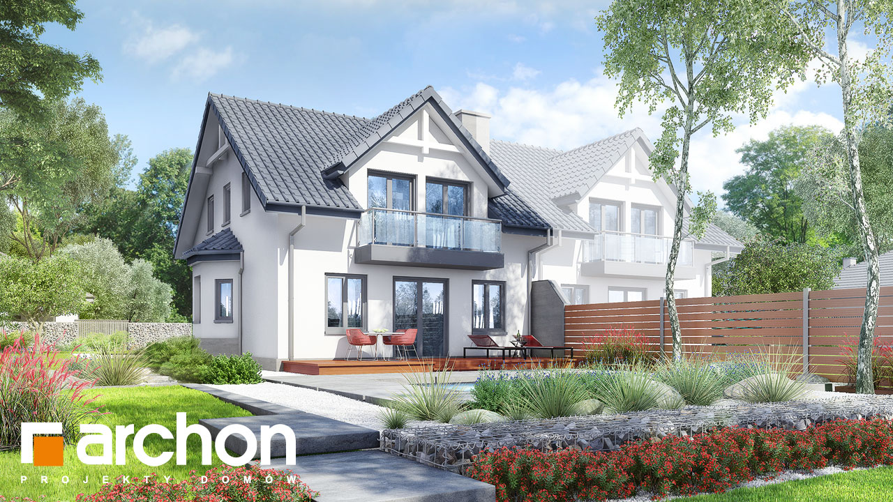 Проект будинку ARCHON+ Будинок в клематисах 2 ver.3 Вид 2