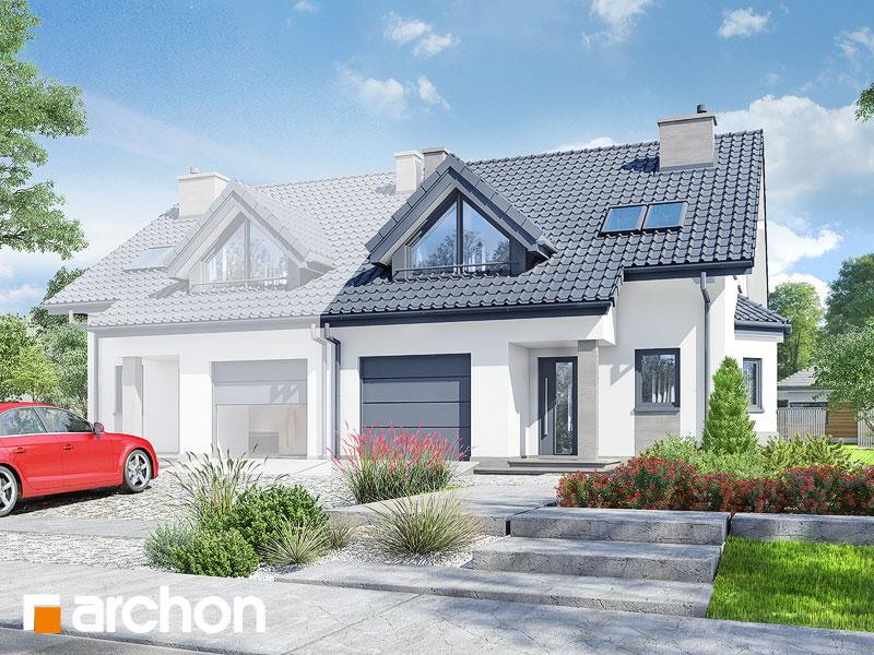 Проект будинку ARCHON+ Будинок в клематисах 2 ver.3 Вид 1