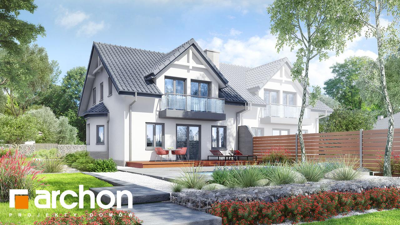 Проект будинку ARCHON+ Будинок в клематисах 2 вер.3 Вид 2
