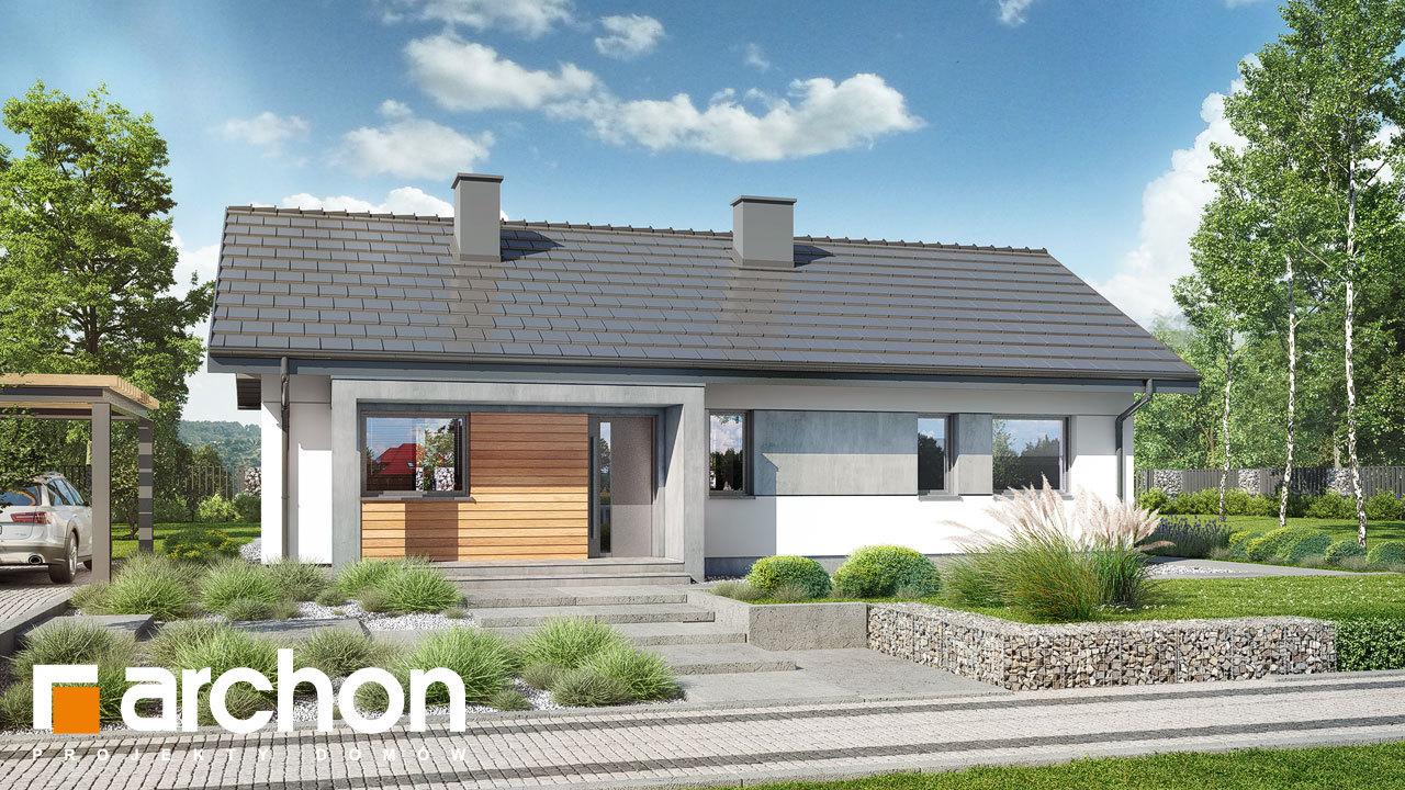 Проект будинку ARCHON+ Будинок в коручках 4