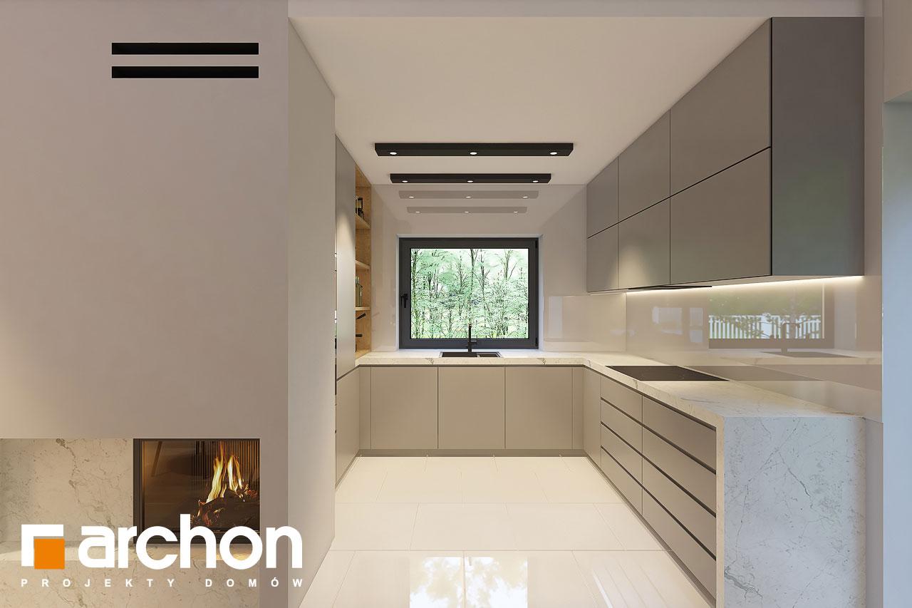 Проект дома ARCHON+ Дом в коручках 4 визуализация кухни 1 вид 1