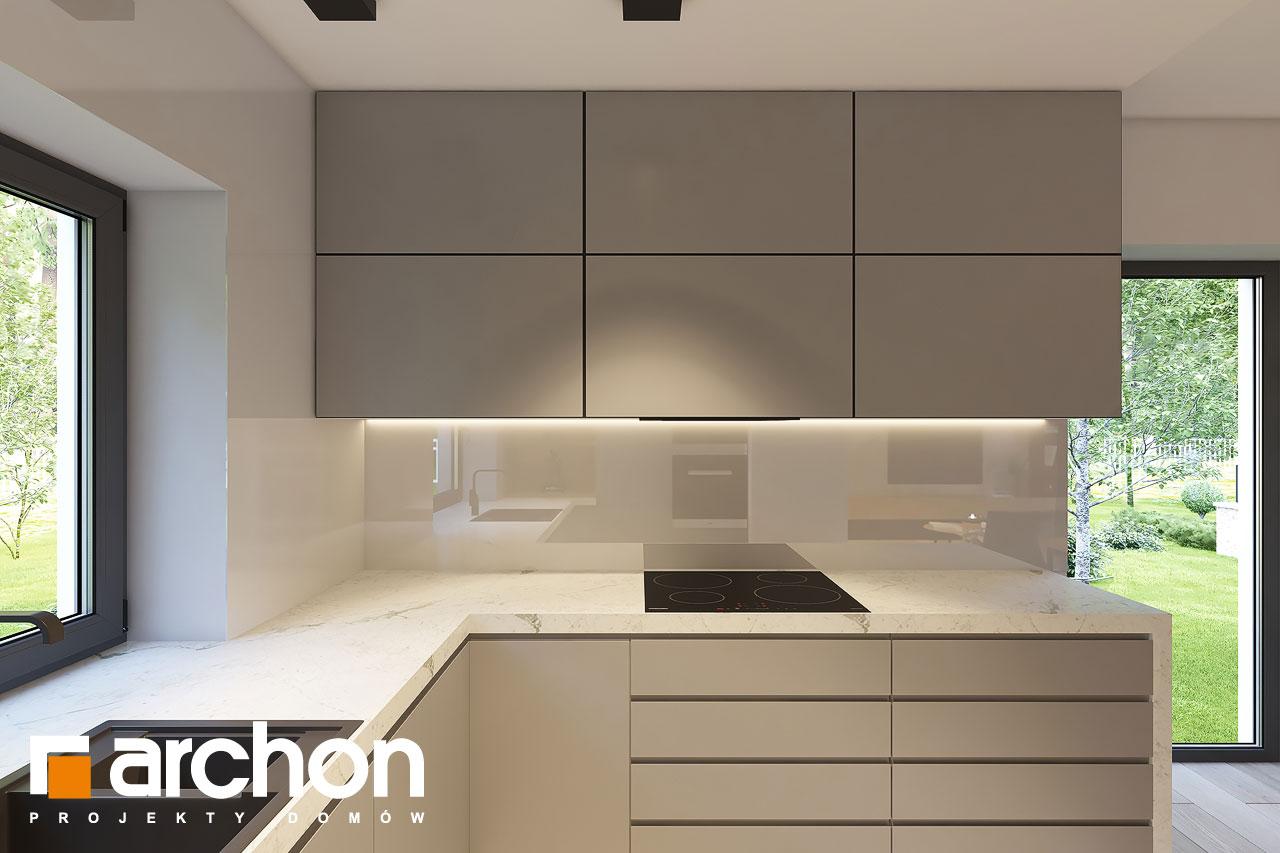 Проект дома ARCHON+ Дом в коручках 4 визуализация кухни 1 вид 3