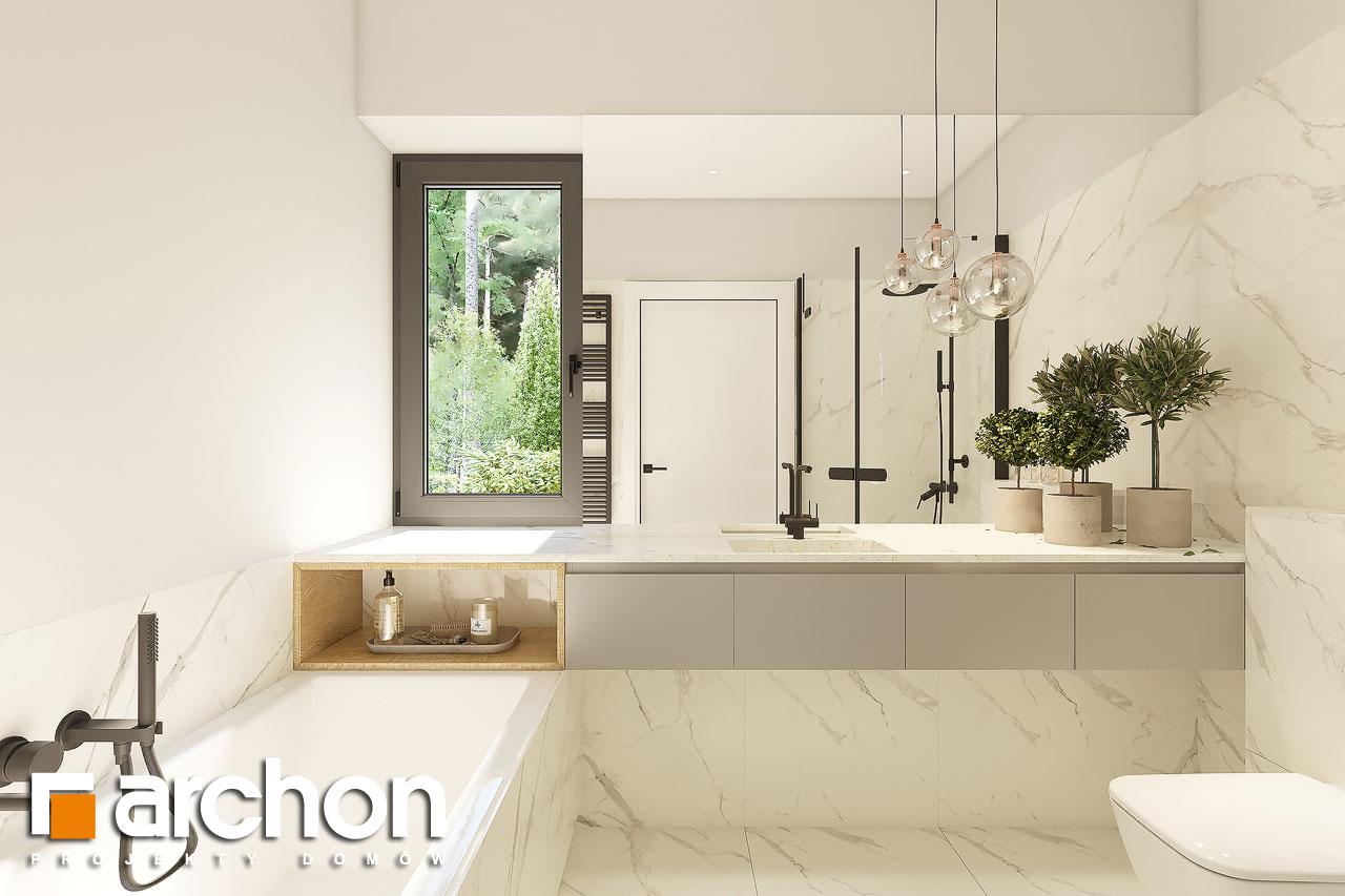 Проект будинку ARCHON+ Будинок в коручках 4 візуалізація ванни (візуалізація 3 від 1)
