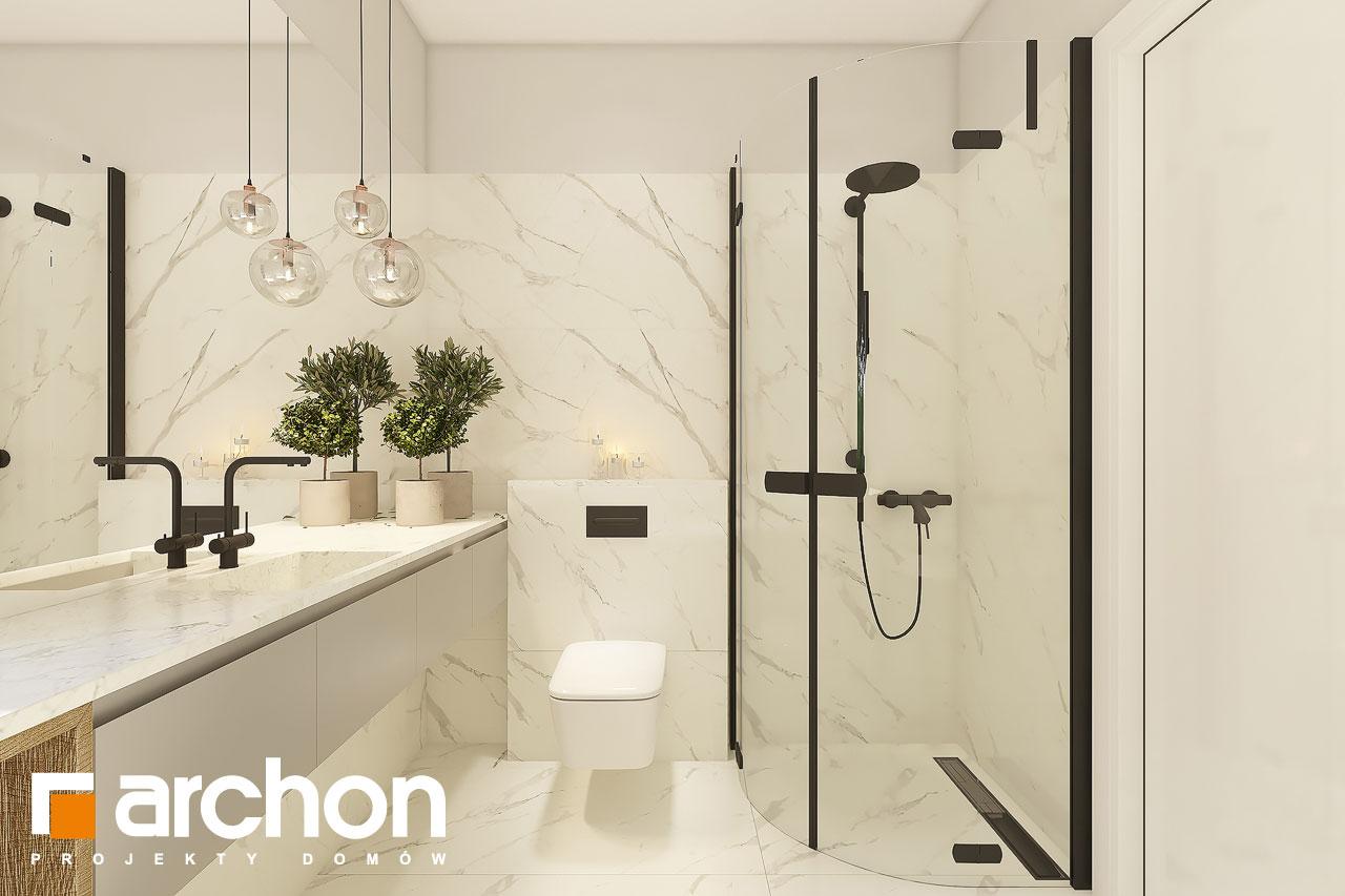 Проект будинку ARCHON+ Будинок в коручках 4 візуалізація ванни (візуалізація 3 від 4)