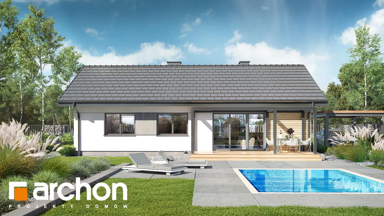Проект будинку ARCHON+ Будинок в коручках 4 Вид 2
