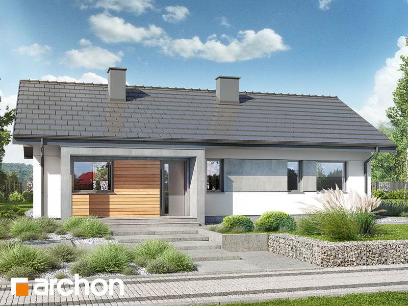 Проект дома ARCHON+ Дом в коручках 4 Вид 1