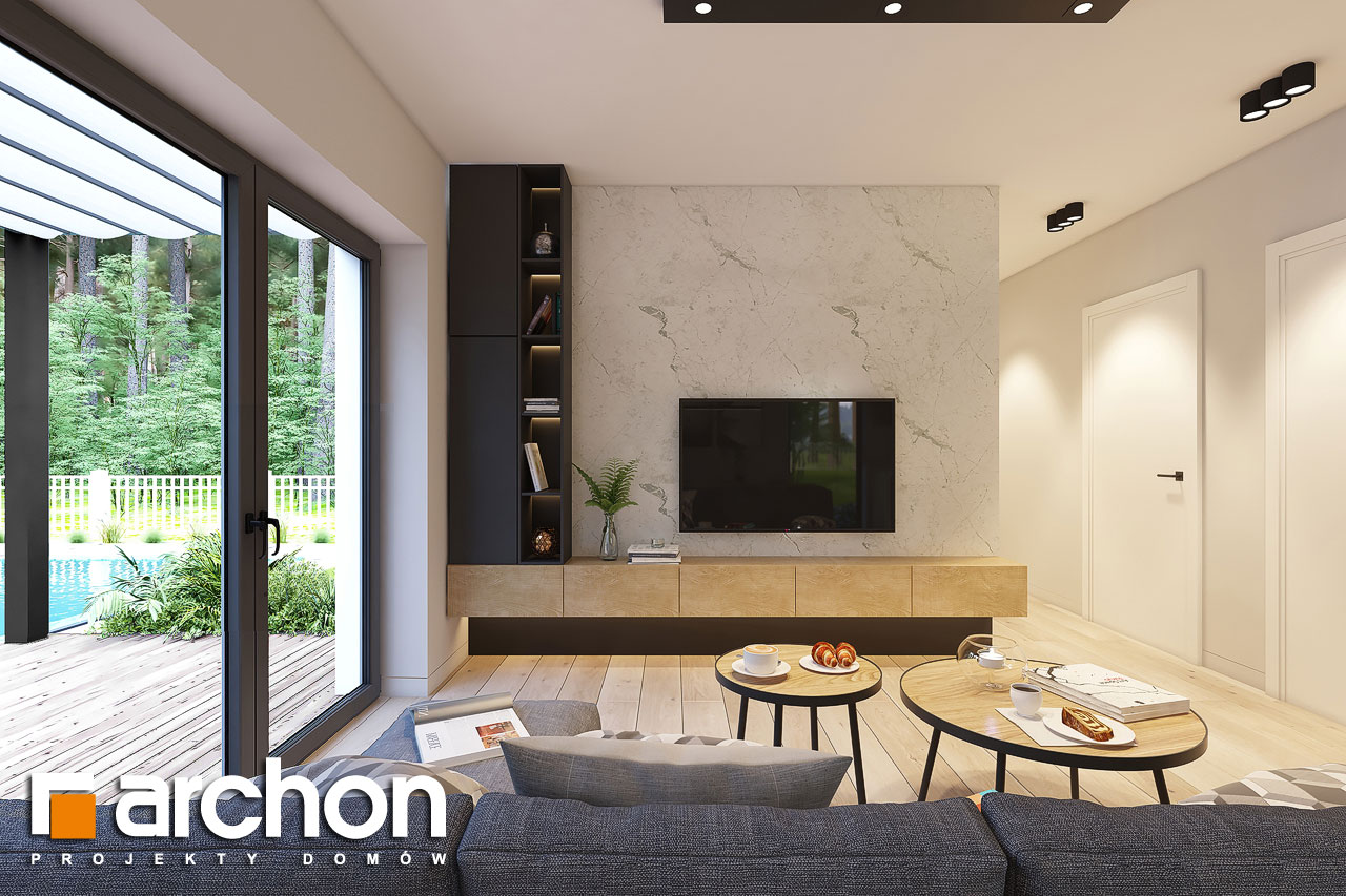 Проект будинку ARCHON+ Будинок в коручках 4 денна зона (візуалізація 1 від 1)